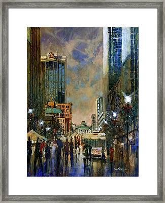 Winter Festival Evening Framed Print