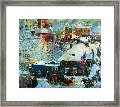 Winter-festivities Framed Print by MotionAge Designs