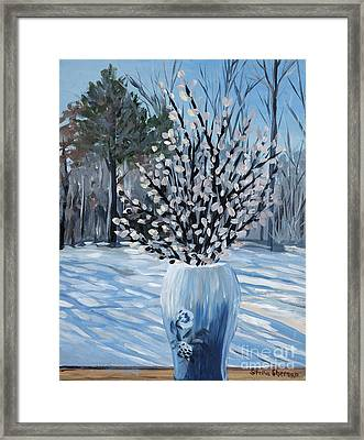 Winter Floral Framed Print by Stella Sherman