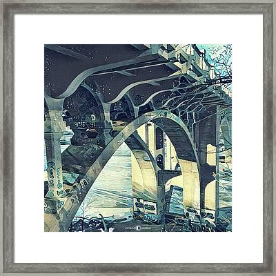 Winter Ford Bridge Framed Print by Tim Nyberg