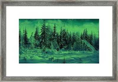 Winter Forest Dream At Dusk Framed Print