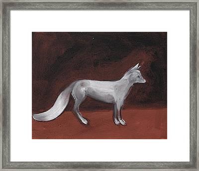 Winter Fox Framed Print by Sophy White