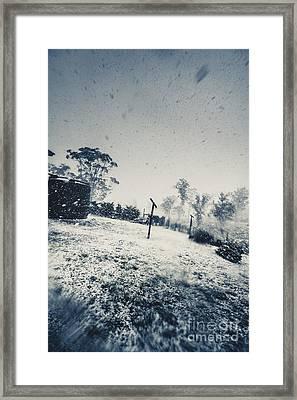 Winter Freeze Framed Print by Jorgo Photography - Wall Art Gallery