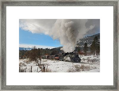 Winter Freight Special Framed Print by Ken Smith