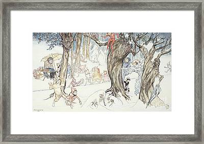 Winter Frolic Framed Print by Arthur Rackham