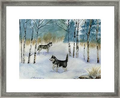 Winter Frolic Framed Print