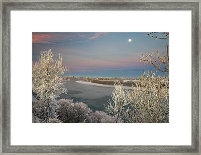 Winter Frost And Color Framed Print