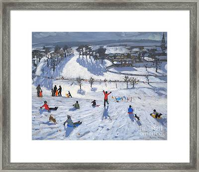 Winter Fun Framed Print by Andrew Macara