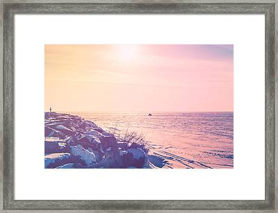 Framed Print featuring the photograph Winter Fun by Joel Witmeyer