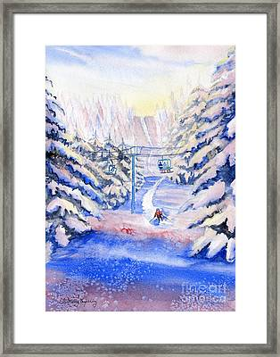 Winter Fun Framed Print by Melly Terpening