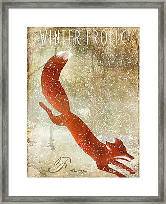 Winter Game Fox Framed Print