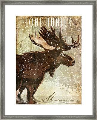 Winter Game Moose Framed Print by Mindy Sommers