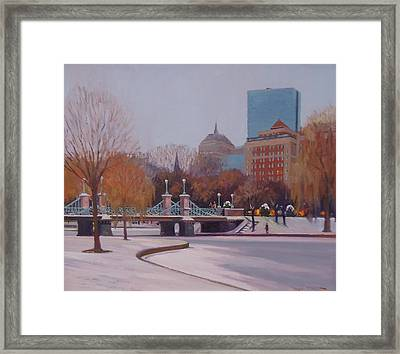 Winter Garden Framed Print