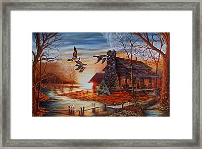 Winter Getaway Framed Print by Carmen Del Valle