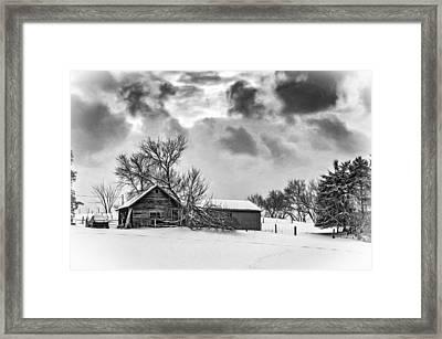 Winter Gloaming - Bw Framed Print by Steve Harrington