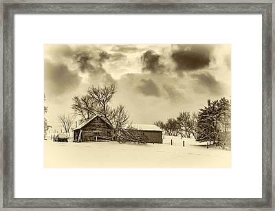 Winter Gloaming - Sepia Framed Print