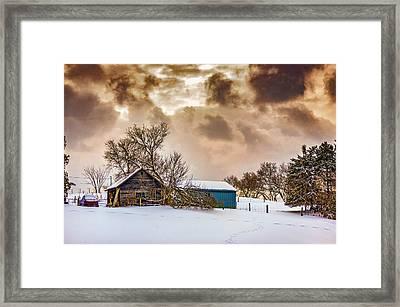 Winter Gloaming Framed Print