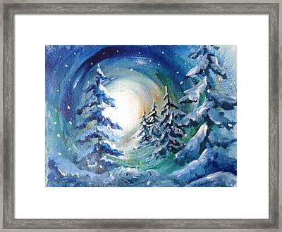 Winter Glow Framed Print by Marilyn Jacobson