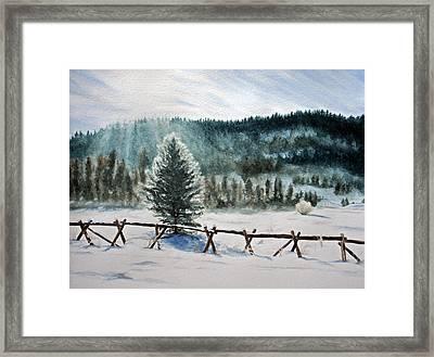 Winter Glow Framed Print by Monika Degan