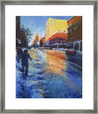 Winter Glow Framed Print