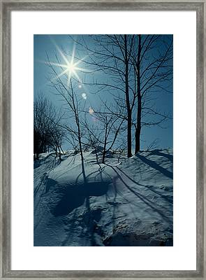 Winter Glow Framed Print by Raju Alagawadi