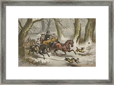 Winter  Going To A Christmas Party Framed Print