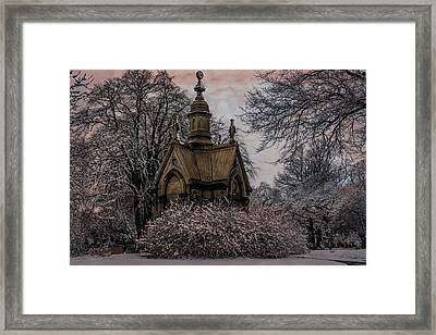 Framed Print featuring the digital art Winter Gothik by Chris Lord