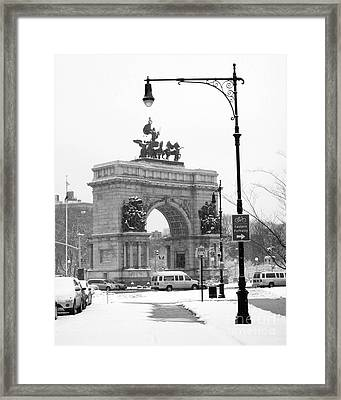 Winter Grand Army Plaza Framed Print