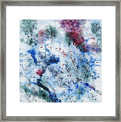 Winter Grapes II Framed Print by Karen Fleschler