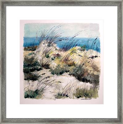Framed Print featuring the painting Winter Grasses by John Williams
