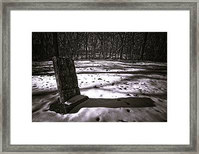 Winter Grave Framed Print by George Christian