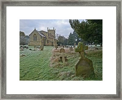 Winter Graveyard Framed Print