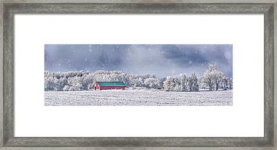 Winter Grey County Framed Print