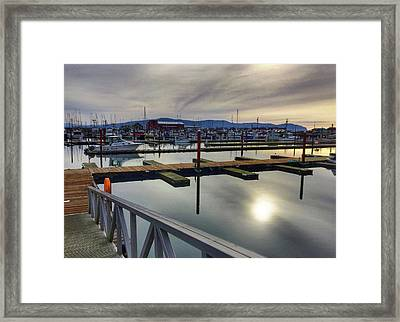 Framed Print featuring the photograph Winter Harbor by Chriss Pagani