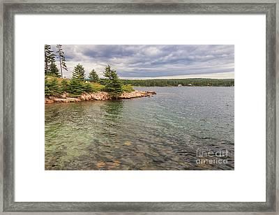 Winter Harbor  Framed Print