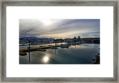 Framed Print featuring the photograph Winter Harbor Revisited #mobilephotography by Chriss Pagani