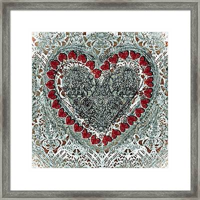 Winter Heart Framed Print by Frank Tschakert