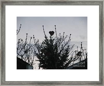 Winter Heart On Lilac Framed Print by Judyann Matthews