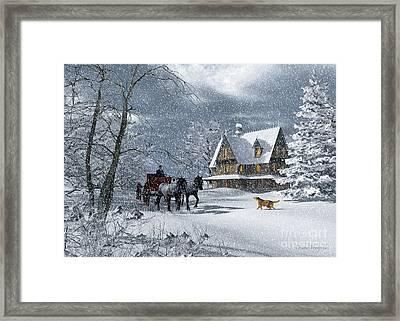 Winter Of Bygone Days Framed Print