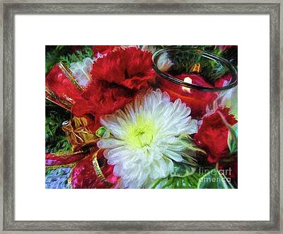 Framed Print featuring the photograph Winter Holiday  by Peggy Hughes