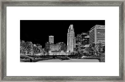 Winter Holidays In Omaha Framed Print