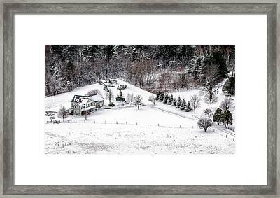 Winter Homestead Framed Print by Alan Brown