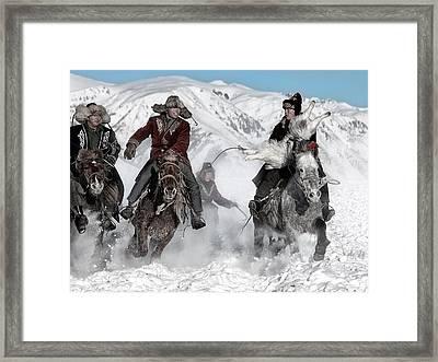 Winter Horse Race Framed Print