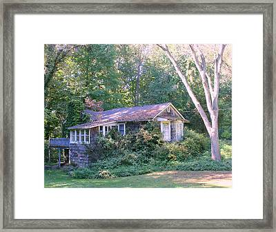 Winter House In The Woods Framed Print by Robert Babler