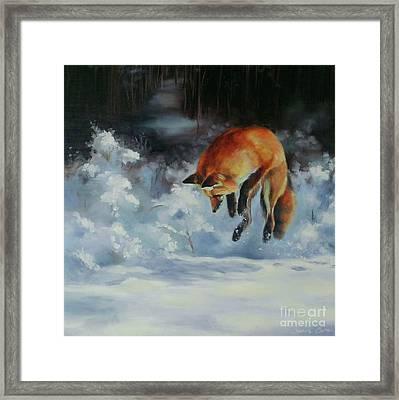 Winter Hunt Framed Print