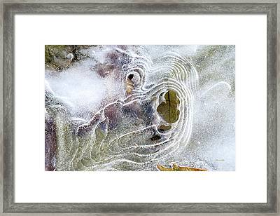 Framed Print featuring the photograph Winter Ice by Christina Rollo
