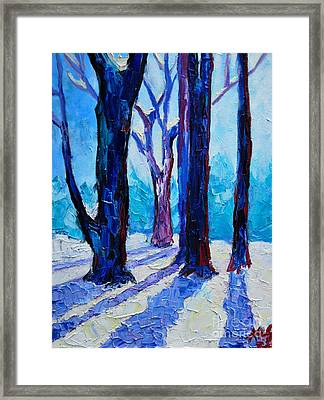 Winter Impression Framed Print