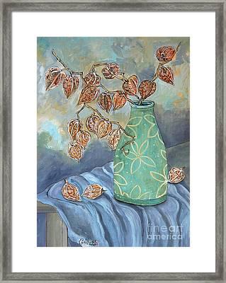 Winter In A Spring Vase Framed Print