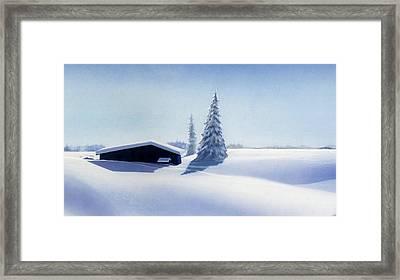 Winter In Austria Framed Print