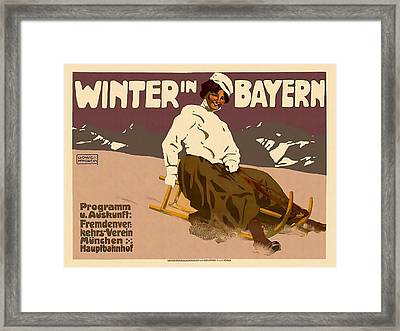 Winter In Bayern Framed Print by David Wagner